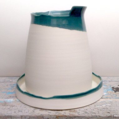 large porcelain pitcher form with base
