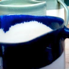 Detail: glaze effect, espresso cup