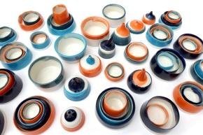 assemblage of porcelain vessels