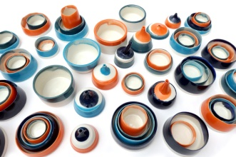 assemblage of porcelain vessels