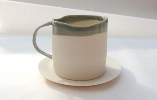 grey porcelain espresso cup w saucer
