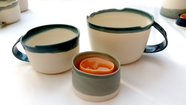 porcelain cups, lrg / sml