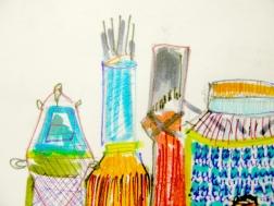 detail: sketchbook drawing