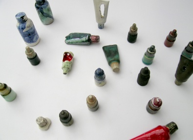small bottle assemblage; from mold form