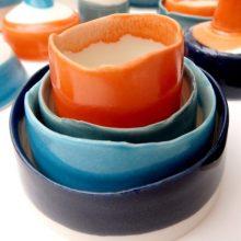 nested porcelain vessels