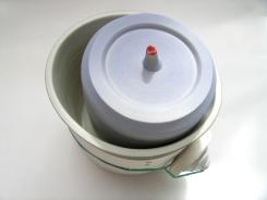 porcelain vessels; latex additions