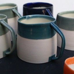 Espresso cups; porcelain
