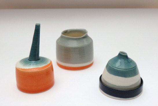 porcelain lachrymatory and small vessels