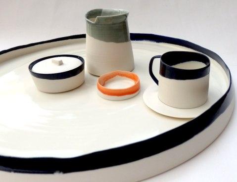 drinking set; porcelain