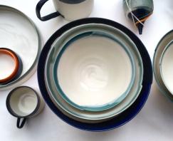 stacked bowls, porcelain
