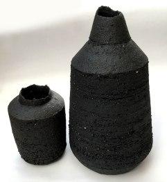 black stoneware bottle forms