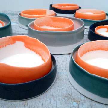 nested forms, porcelain