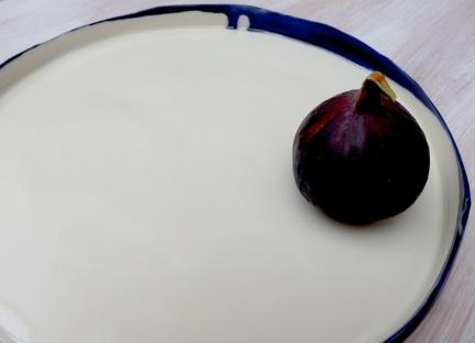 flat porelain platter form with uneven edges