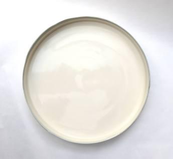 circular platter form - grey