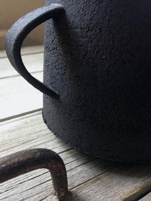 black stoneware
