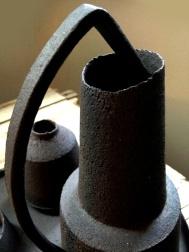 Black stoneware; detail