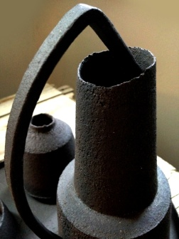 Black stoneware; detail