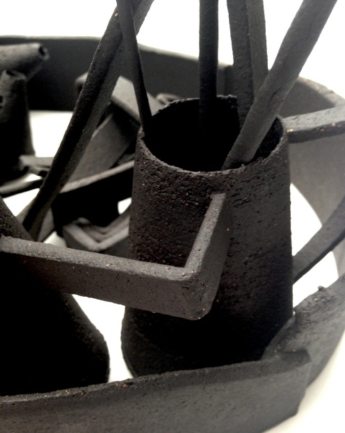 'Dead Language' series; black stoneware